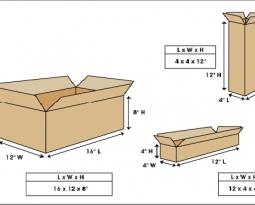 纸板箱面积算法